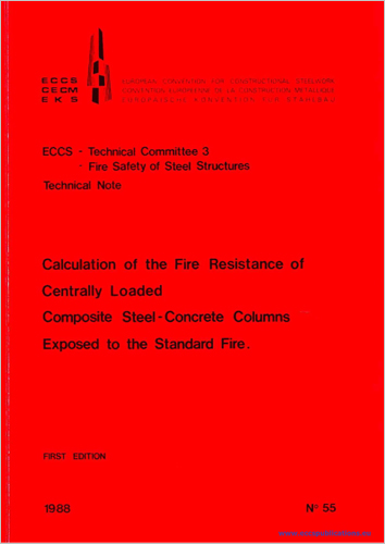 Calculation of the Fire Resistance of Centrally Loaded Composite Steel-Concrete Columns Exposed to the Standard Fire
